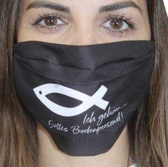 Mund-Nasen-Maske Ich gehöre zu Gottes Bodenpersonal