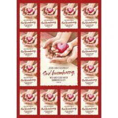 Jahreslosung 2021 Motiv Herz Aufkleberkarten (12er Set)