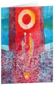 Kunstkarten 'Balance für zwei'