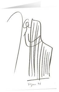 Kunstkarten 'Bote mit Harfe' Felger, Andreas 4250454725455