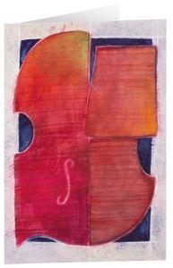 Kunstkarten 'Rote Violine' Felger, Andreas 4250454725493