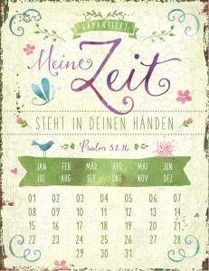 Magnetkalender 'Garantiert: Meine Zeit'