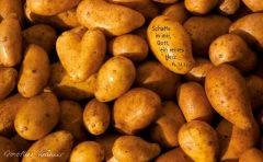 Vesperbrettchen / Frühstücksbrettchen Kartoffeln