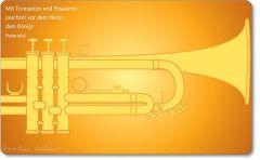 Vesperbrettchen / Frühstücksbrettchen Trompete