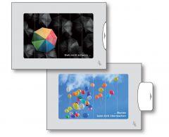 Zwei-Bild-Karte Regenschirm