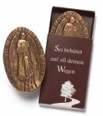 Bronze-Symbol 'Sei behütet auf all ...'