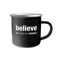 Emaille-Tasse 'Believe'
