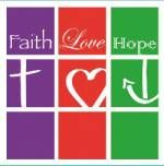 Magnetschild 'Faith - Love - Hope'