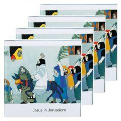 Jesus in Jerusalem (4er-Pack) Kees de Kort 9783438049315