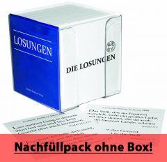Die Losungen 2021 - 365 Losungskarten - Nachfüllpack für Losungs-Box