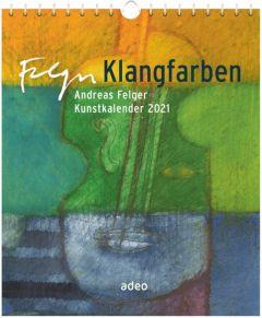 9783863342562 Klangfarben 2021 - Postkartenkalender : Andreas Felger Kunstkalender