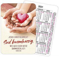 Jahreslosung 2021 Motiv Herz Spielkarten-Kalender