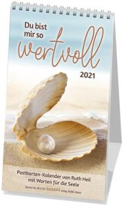 9783880877931 Du bist mir so wertvoll 2021 : Postkarten-Kalender von Ruth Heil