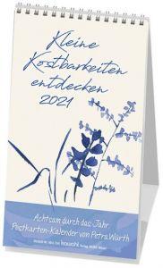 9783880877948 Kleine Kostbarkeiten entdecken 2021 : Postkartenkalender mit Worten von Petra Würth