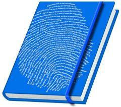 Schreibbuch 'Fingerabdruck' - blau  9783942208000