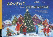 Advent in der Sternengasse. Ein Adventskalender mit großem Sternenfächer zum Aufhängen Schupp, Renate/Birkenstock, Anna Karina 9783780608642