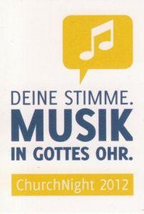 Aufkleber - Musik in Gottes Ohr