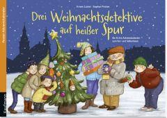 Drei Weihnachtsdetektive auf heißer Spur. Ein Krimi-Adventskalender zum Vor- und Selberlesen Lückel, Kristin/Pricken, Stephan 9783780608796
