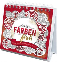 Farbenfroh - Mein Adventskalender zum Ausmalen  9783789398049