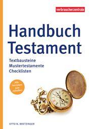 Handbuch Testament Bretzinger, Otto N 9783863361150