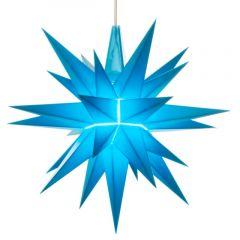 Herrnhuter Einzelstern A1e blau vormontiert inkl. LED