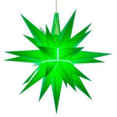 Herrnhuter Einzelstern A1e grün vormontiert inkl. LED