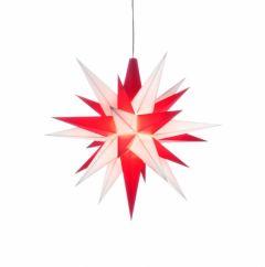 Herrnhuter Einzelstern A1e weiß-rot vormontiert inkl. LED