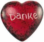 Handschmeichler Herz 'Danke/Rot'