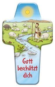 Kinderkreuz 'Gott beschützt dich' Guido Apel 9783417288131