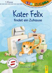 LESEZUG/1. Klasse: Kater Felix findet ein Zuhause Auer, Christine 9783707422399