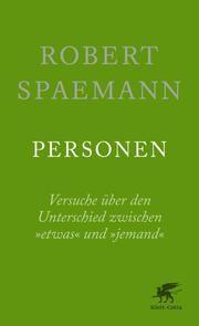 Personen Spaemann, Robert 9783608962222