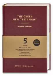 The Greek New Testament. A Reader's Edition Barbara und Kurt Aland/Johannes Karavidopoulos/Carlo M Martini et al 9783438051684