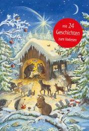 Tiere auf dem Weg zur Krippe. Ein Türchen-Adventskalender mit 24 Geschichten zum Vorlesen Steckelmann, Petra/Kugler, Christine 9783780609458