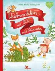 Weihnachten mit Fuchs und Schweinchen Herzog, Annette 9783734820588
