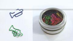 Büroklammer-Box Trompete - Box mit 25 Metall-Klammern
