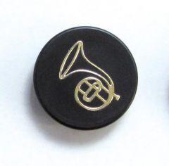 Magnet Horn schwarz / gold