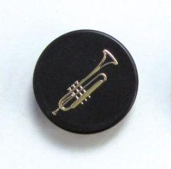 Magnet Trompete schwarz / gold