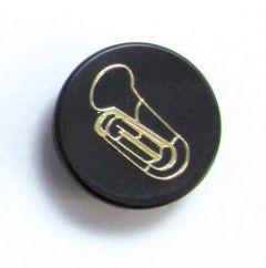 Magnet Tuba schwarz / gold
