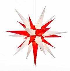 Herrnhuter Stern A13 weiß-rot ca. 130 cm