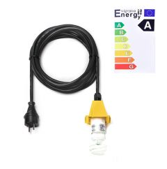 Herrnhuter Stern Kabel A4/A7 Deckel gelb (inkl. LED)