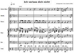 Einzelstimme - Ich verlass dich nicht - Band-Arrangement (PDF)