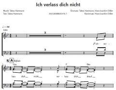 Einzelstimme - Ich verlass dich nicht - Chorsatz (PDF)