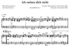 Einzelstimme - Ich verlass dich nicht - Klaviersatz (PDF)