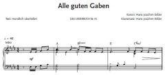Einzelstimme - Alle guten Gaben - Klaviersatz (PDF)
