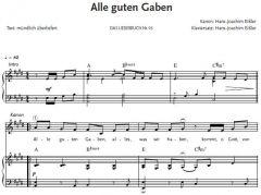 Einzelstimme - Alle guten Gaben - Partitur (PDF)
