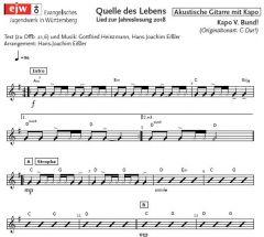 Einzelstimme - Quelle des Lebens - A-Gitarre mit Kapo (PDF)