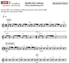 Einzelstimme - Quelle des Lebens - A-Gitarre (PDF)