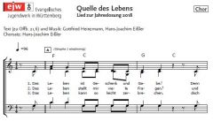Einzelstimme - Quelle des Lebens - Chorsatz (PDF)