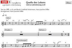 Einzelstimme - Quelle des Lebens - Oboe (PDF)