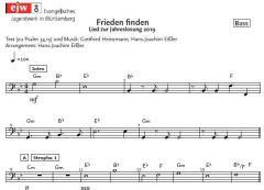 Einzelstimme - Frieden finden - Bass (PDF)